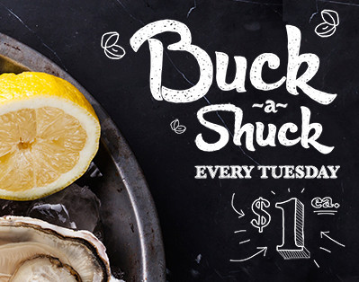Fresh Oysters $1 Every Tuesday
